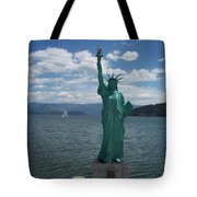 Liberty On Lake Pend Oreille  Tote Bag