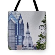 Liberty Place And City Hall Tote Bag
