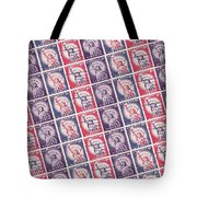 Liberty Stamps Collage Tote Bag