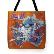 Librarian Pilot Tote Bag by Marina Gnetetsky