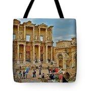 Library Of Celsus In Ephesus-turkey Tote Bag