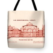 Library Of Congress Design 1877 Tote Bag by Mountain Dreams