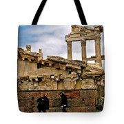 Library On The Pergamum Acropolis-turkey Tote Bag