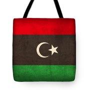Libya Flag Vintage Distressed Finish Tote Bag