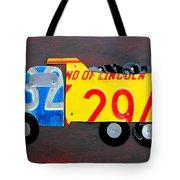 License Plate Art Dump Truck Tote Bag