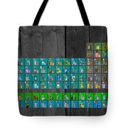 License Plate Art Recycled Periodic Table Of The Elements By Design Turnpike Tote Bag
