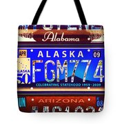 License Plate Tote Bag