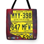License Plate Map Of Arizona By Design Turnpike Tote Bag by Design Turnpike