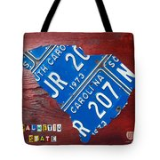 License Plate Map Of South Carolina By Design Turnpike Tote Bag