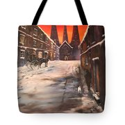 Lichfield Cathedral A View From The Close Tote Bag