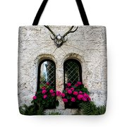 Lichtenstein Castle Windows Wall And Antlers - Germany Tote Bag