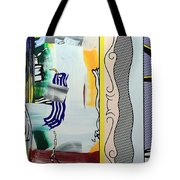 Lichtenstein's Painting With Statue Of Liberty Tote Bag