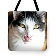 Licking His Chops Tote Bag