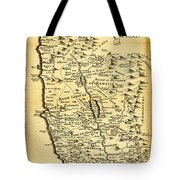 Liebauxs Map Of The Holy Land 1720 Tote Bag