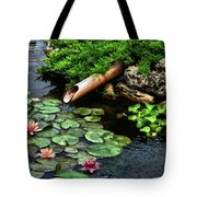 Life At The Lily Pond Tote Bag