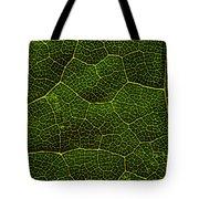 Life Grid In A Leaf Tote Bag