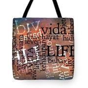 Life Letters Two Tote Bag