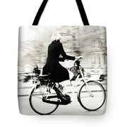 Life On Bike. Trash Sketches From The Amsterdam Streets Tote Bag