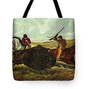 Life On The Prairie Tote Bag by Currier and Ives