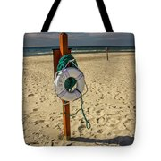 Life Preserver On The Beach In Pentwater Michigan Tote Bag