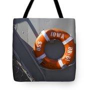 Life Ring Uss Iowa Battleship Tote Bag