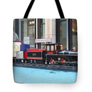 Life Size Toy Train Set In Nyc Tote Bag
