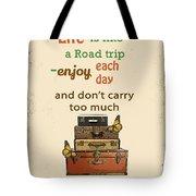 Life Typography-baggage Tote Bag