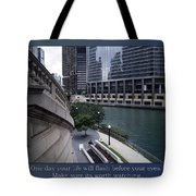 Life Will Flash Before Your Eyes Blue Background Tote Bag