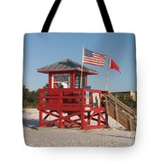 Lifeguard Siesta Beach Tote Bag