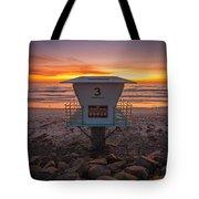 Lifeguard Tower At Dusk Tote Bag