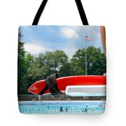 Lifeguard Watches Swimmers Tote Bag