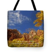 Lift Up Your Eyes Tote Bag