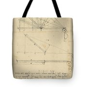 Lifting By Means Of Pulleys Of Beam With Extremity Fixed To Ground From Atlantic Codex Tote Bag