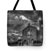 Light Above The Church Tote Bag