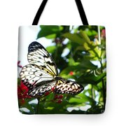Light And Butterfly Tote Bag