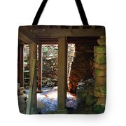 Light And Shadow Below The Mill Tote Bag