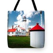 Light At Whitefish Point Tote Bag