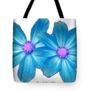 Light Blue Asters Tote Bag