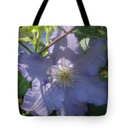 Light Blue Clematis Tote Bag