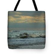 Light Blue Waves Tote Bag