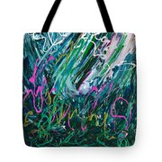 Light Dancing In The Shadows Tote Bag