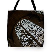 Light - Arched Windows And Golden Chandeliers Tote Bag