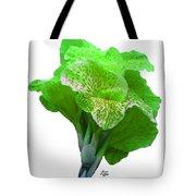 Light Green Iris Tote Bag