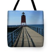 Light House In Charlevoix Mich Tote Bag