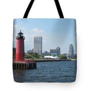 Light House Milwaukee Skyline 1 Tote Bag