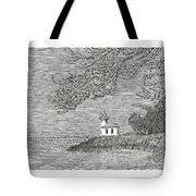 Light House On San Juan Island Lime Point Lighthouse Tote Bag