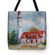 Light House, Wisconsin  Tote Bag