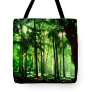 Light In The Jungles. Viridian Greens. Mauritius Tote Bag