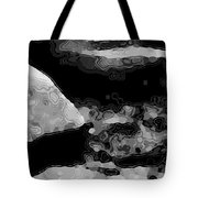 Light In The Stream Bw Tote Bag
