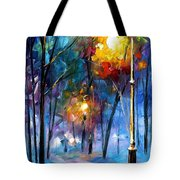 Light Of Luck - Palette Knife Oil Painting On Canvas By Leonid Afremov Tote Bag
